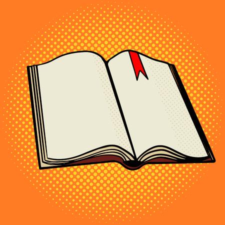 Abrir ejemplo del estilo del arte pop libro. la imitación del estilo del cómic
