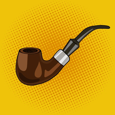 smoking pipe: Smoking pipe pop art style vector illustration.  Smoking pipe. Comic book style imitation. Vintage retro style. Conceptual illustration Illustration
