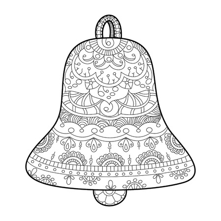 adults: Bell coloring book for adults vector illustration. Illustration