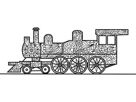 Submarino De Dibujos Animados De Libro Para Colorear Para Los ...