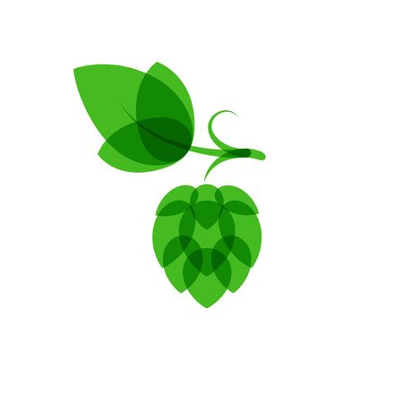 blend: Hops minimalistic color overlay style vector illustration. Logo icon. Normal blend mode. White background
