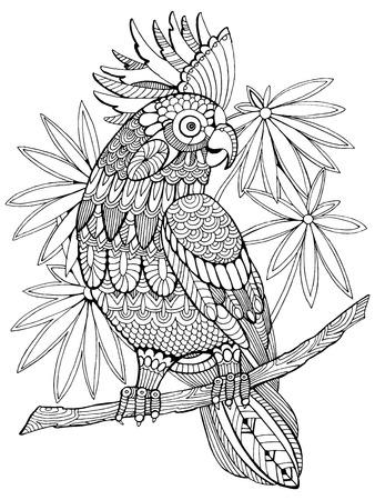Schloss Und Drachen Illustration. Fee Zeichnung Für Kinder. Anti ...