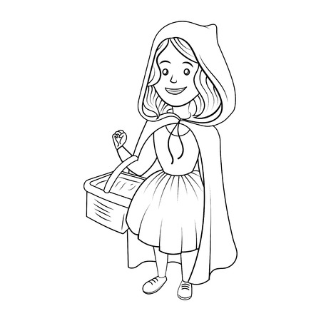Little Red Riding Hood coloring book vector Ilustrace