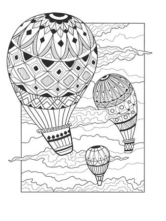 aeronautic: Aeronautic balloon coloring book.