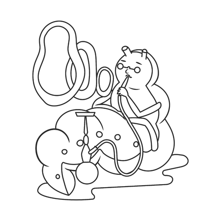 Hookah Smoking Caterpillar coloring book vector