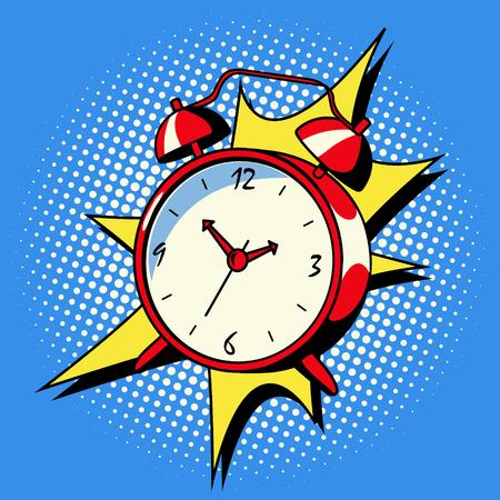 Alarm clock ring comic book style vector Stock Photo