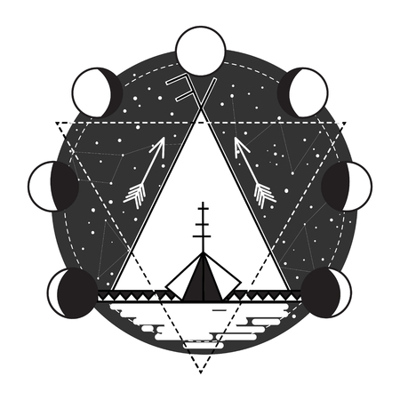 wigwam: Wigwam abstract tattoo design vector