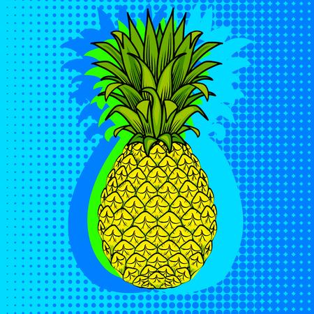 Pineapple fruit vector illustration