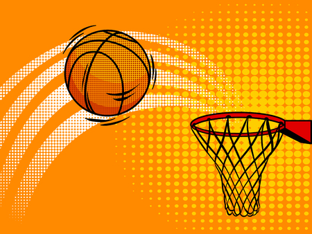 Basketball pop art style vector illustration. Comic book style imitation Ilustrace