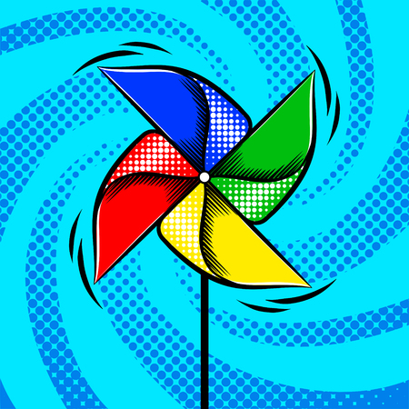 Toy vane pop art style vector illustration Illustration