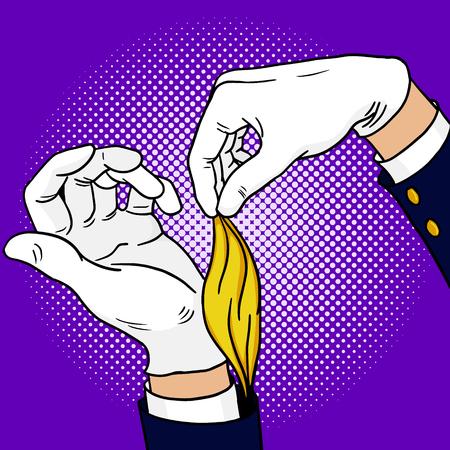 魔術師ポップアートの手ベクトル イラスト 写真素材 - 76782550