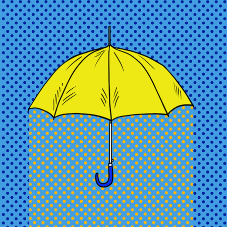 Umbrella pop art style vector illustration. Comic book style imitation Фото со стока - 77334396