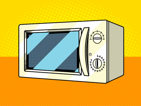 Microwave oven pop art style vector