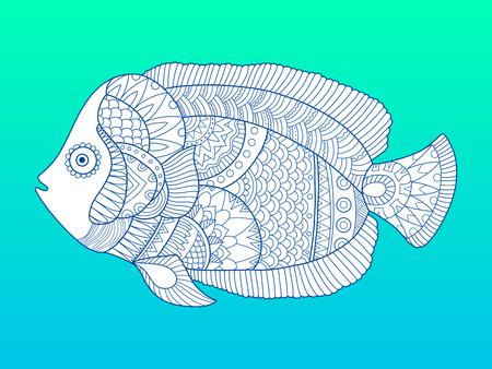 Angel fish color fashion vector illustration
