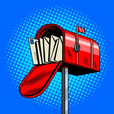 Letter box comic book style vector illustration Illustration