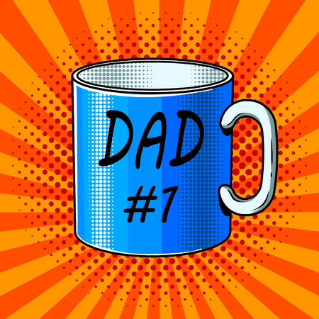 Cup with inscription comic book style vector