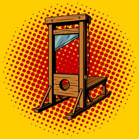 Guillotine pop art vector illustratie