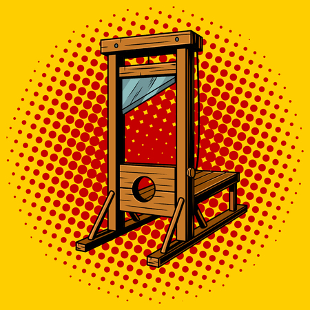 Guillotine pop art vector illustration