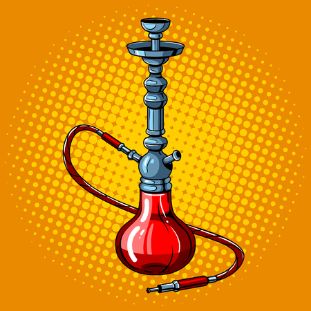 Hookah pop art style vector illustration Çizim