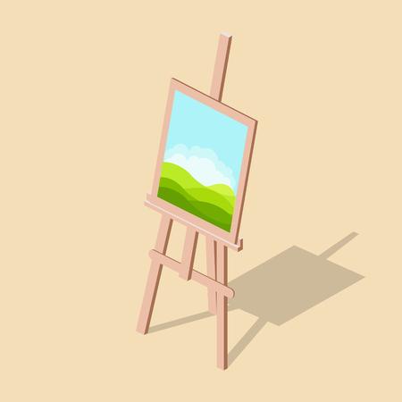 画像の等尺性のベクトル図とイーゼル