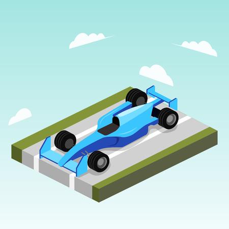 道路等尺性ベクトルのスポーツ車