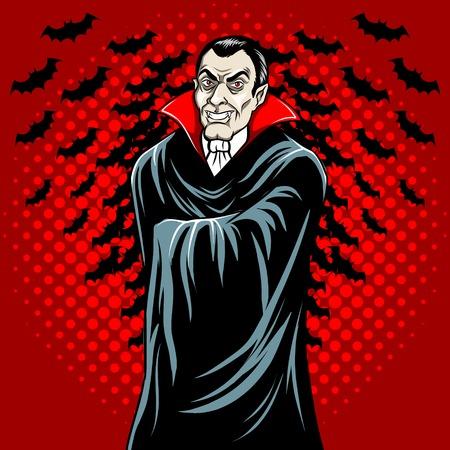 Vampire fairy tale character comic book vector