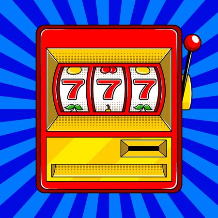Illustration vectorielle de machine à sous pop art style Banque d'images - 83560243