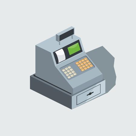 Cash machine isometric vector illustration Stock Photo