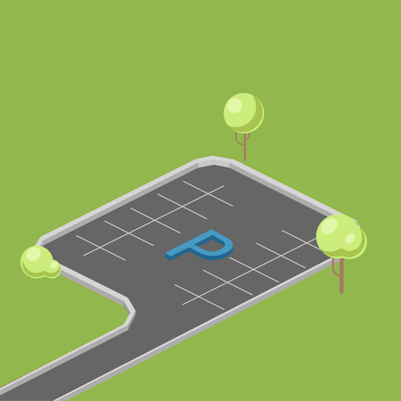 Parking place isometric vector illustration