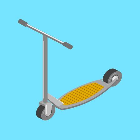 Kick scooter transport isometric vector