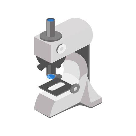 Medical microscope colorful minimalistic isometric style vector illustration