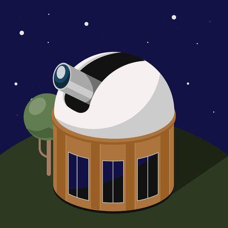 Spazio scientifico dello spazio osservatorio vettore isometrico Vettoriali
