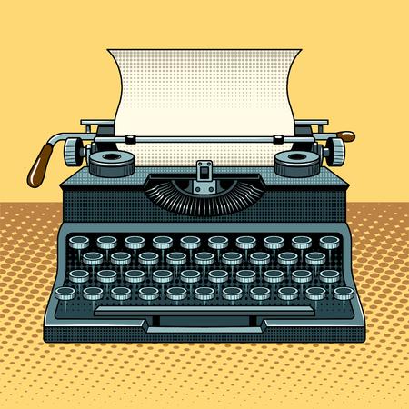 Vintage monteur schrijfmachine pop-art stijl vectorillustratie. Comic book stijl imitatie Stock Illustratie