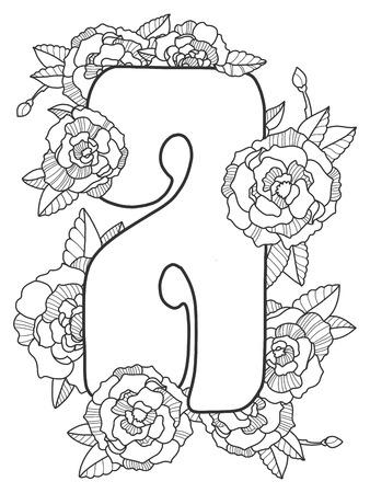 Lettre a une illustration vectorielle de livre de coloriage Banque d'images - 85422781