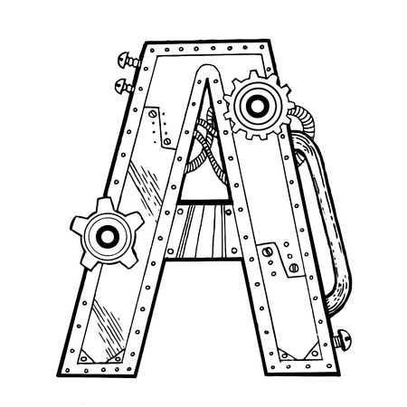 Mechanical letter A.