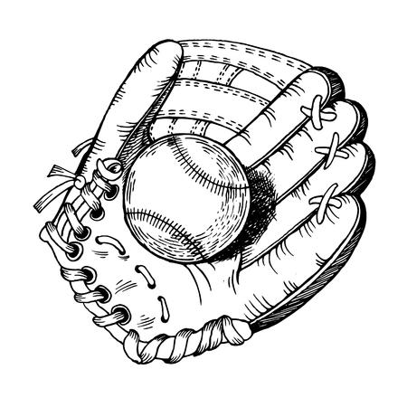 Skates engraving illustration. Illustration