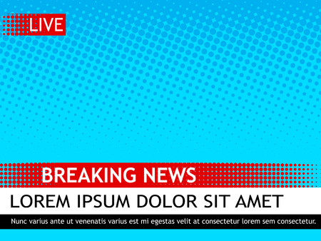 Breaking news design template. 矢量图像