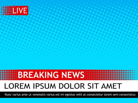Breaking news design template. Vectores