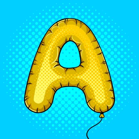 Globo de aire en forma de carta Un vector de arte pop Foto de archivo - 88894297