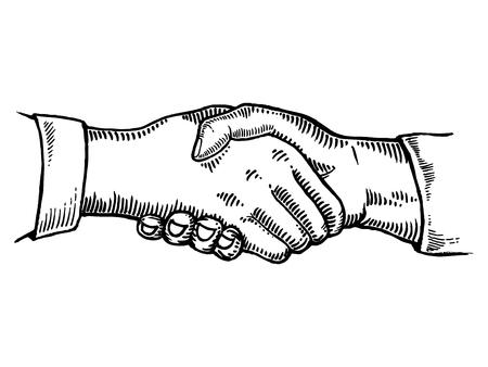 Handshake illustration. Ilustração