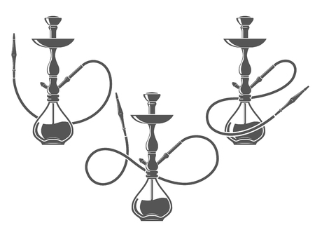 Hookah minimalistic vector illustration Illustration