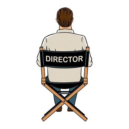 Director sitting on his chair icon.