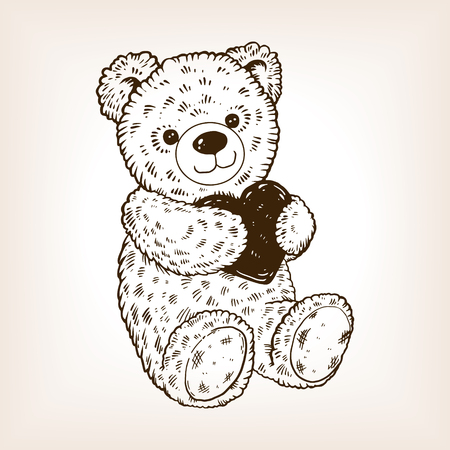 Teddy bear icon. Ilustrace