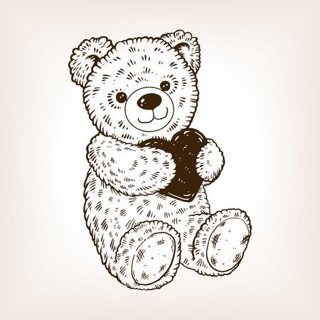 Teddy bear icon. Stock Illustratie