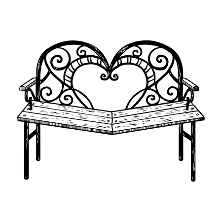 Reconciliation bench engraving vector illustration Illustration