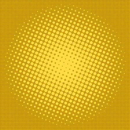 Yellow halftone design background retro vector illustration.