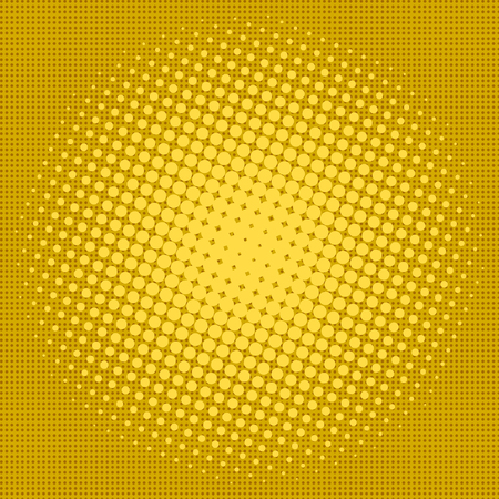 Yellow halftone design background retro vector illustration.