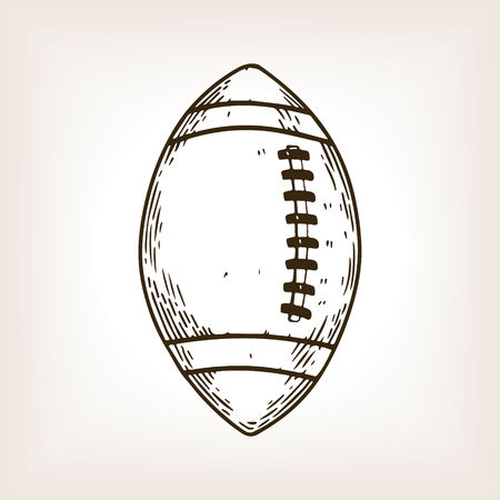 American football equipment engraving vector.