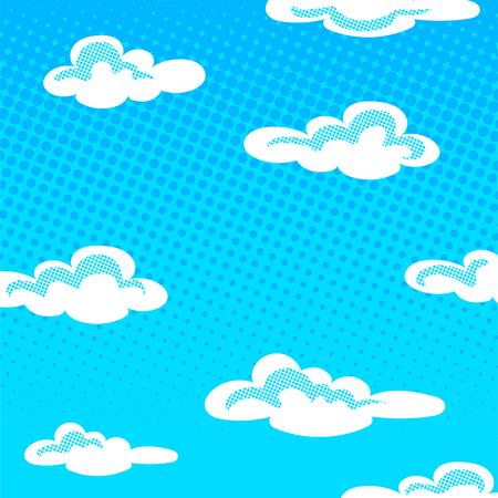 Sky halftone background vector illustration