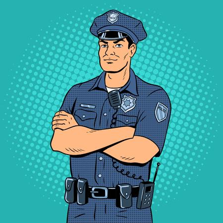 警官ポップアートベクトルイラスト。  イラスト・ベクター素材